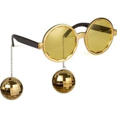 Disko Topu Altın Renk Parti Gözlüğü