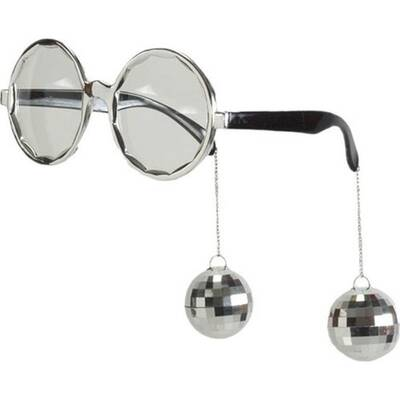 Disko Topu Gümüş Renk Parti Gözlüğü