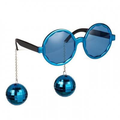 Disko Topu Mavi Renk Parti Gözlüğü