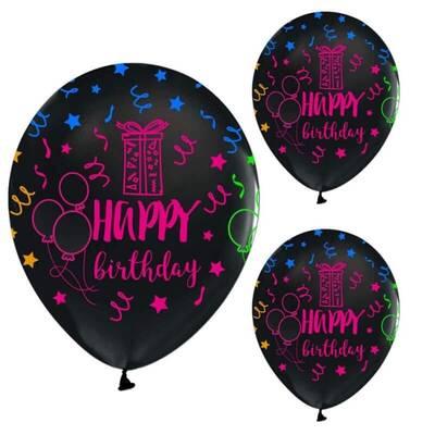 Floresan Happy Birthday Latex Balon 10 Lu