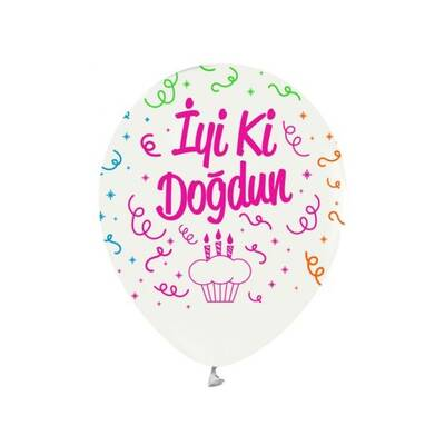 Floresan İyi Ki Doğdun Latex Balon 10 Adet