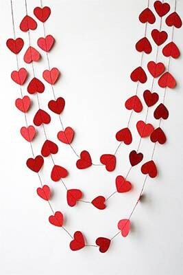 Kırmızı Kalp Sarkıt Süs